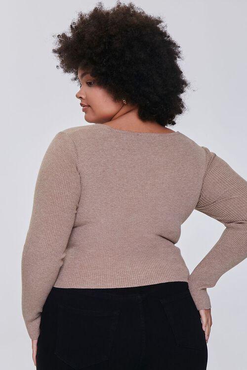 OATMEAL Plus Size Twisted Sweater, image 3