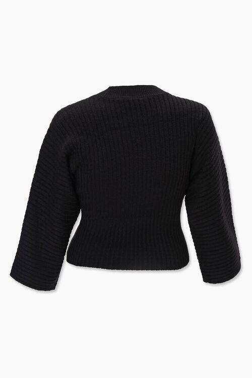 Plus Size Ribbed Mock Neck Sweater, image 3