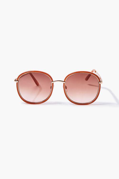 RUST/RUST Oval Metal Sunglasses, image 2