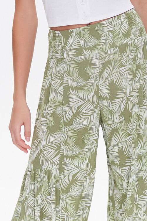 Leaf Print Wide-Leg Pants, image 5