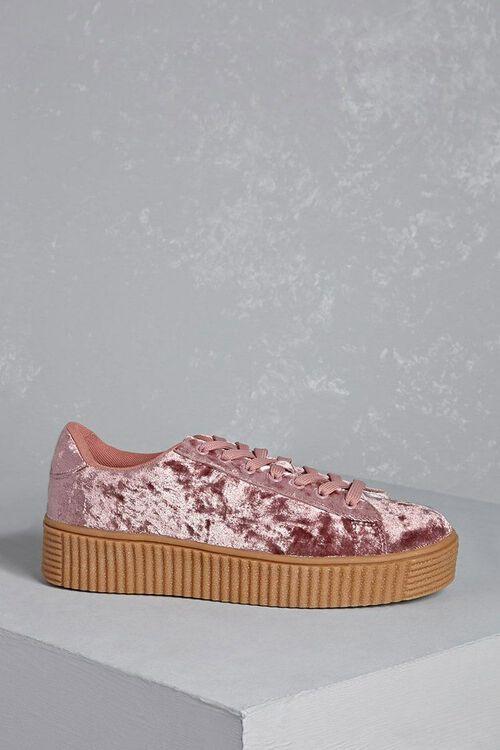Crushed Velvet Platform Sneakers, image 4