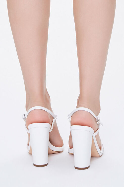 Strappy Faux Leather Block Heels, image 3