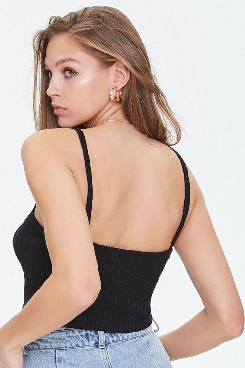 Ribbed Lace-Up Cropped Cami, image 3