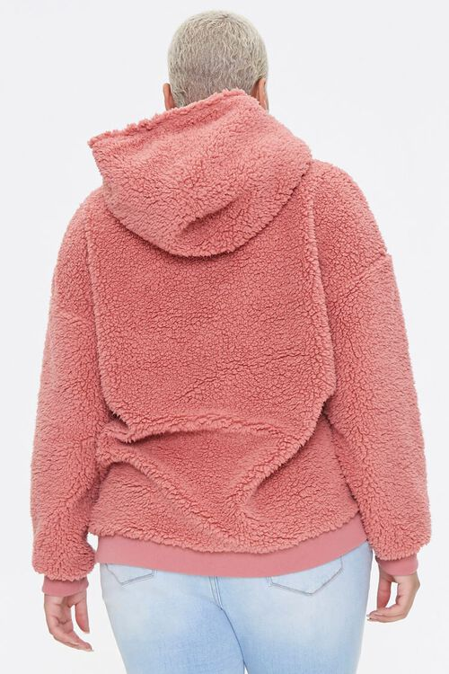 Plus Size Faux Shearling Hoodie, image 3