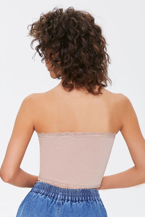 Seamless Crochet-Trim Tube Top, image 3