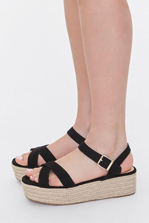 Faux Suede Espadrille Flatform Sandals, image 2