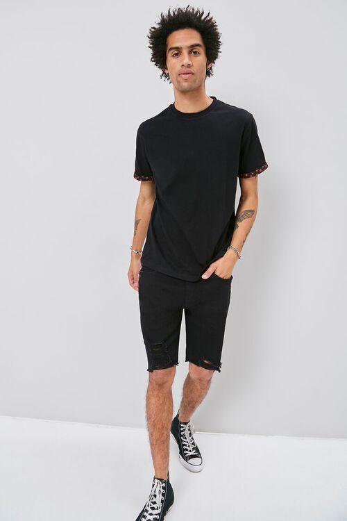 Clean Wash Distressed Denim Shorts, image 5