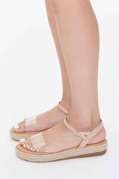 Clear-Strap Espadrille Flatform Sandals, image 2