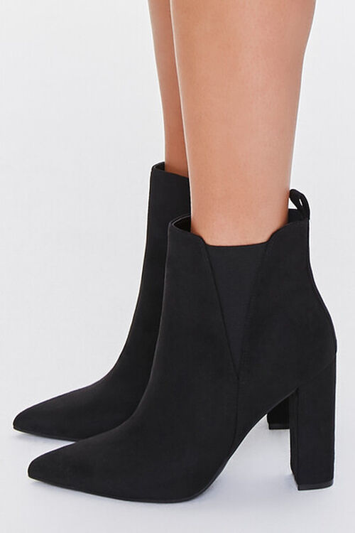Faux Suede Pointed Toe Booties, image 2