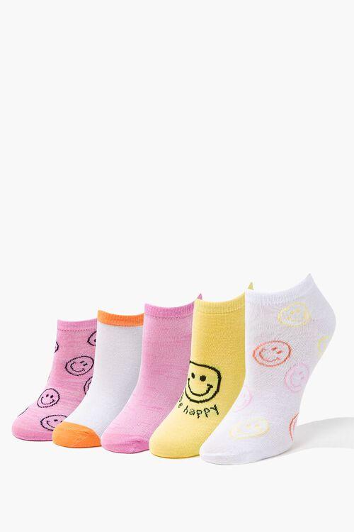 Happy Face Ankle Socks Set - 5 pack, image 1
