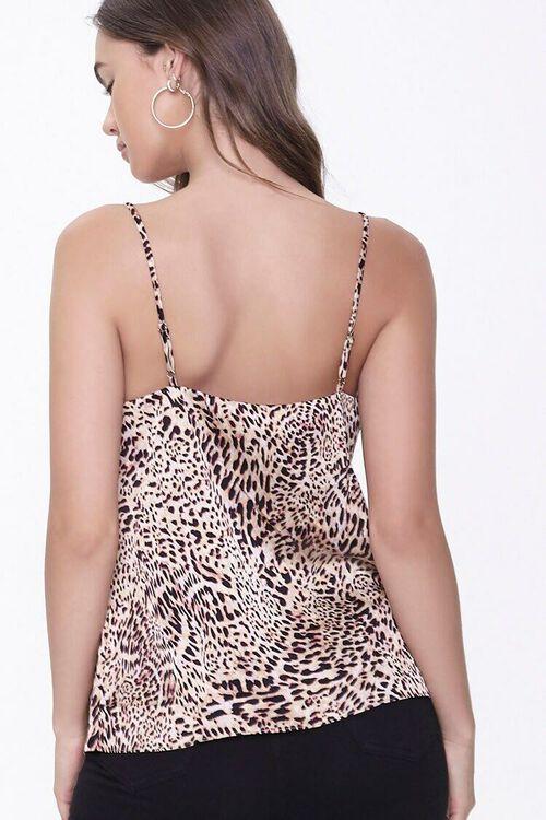 BROWN/BLACK Satin Cheetah Print Cami, image 3