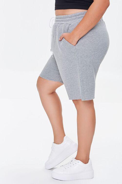 HEATHER GREY Plus Size Boyfriend Sweatshorts, image 3