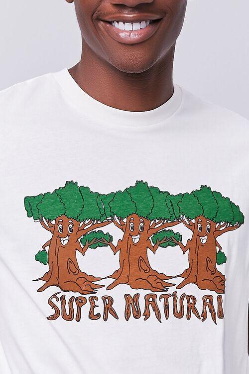 CREAM/BROWN Organically Grown Cotton Tree Graphic Tee, image 5