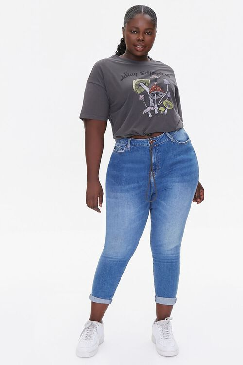 Plus Size Stay Magical Cropped Tee, image 4