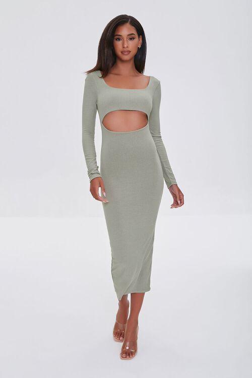 SAGE Cutout Midi Bodycon Dress, image 1