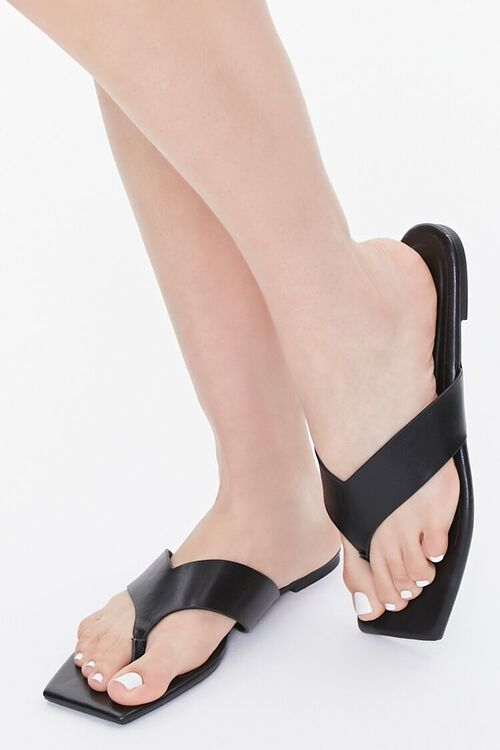 Square Thong-Toe Sandals, image 5