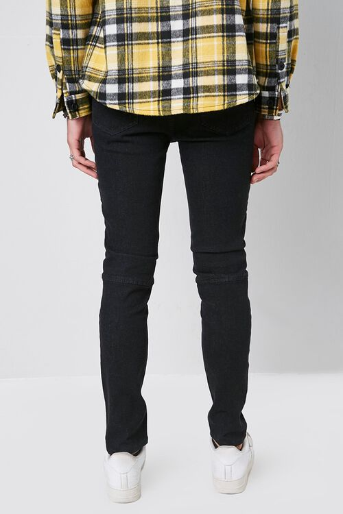 Skinny Zippered Moto Jeans, image 3