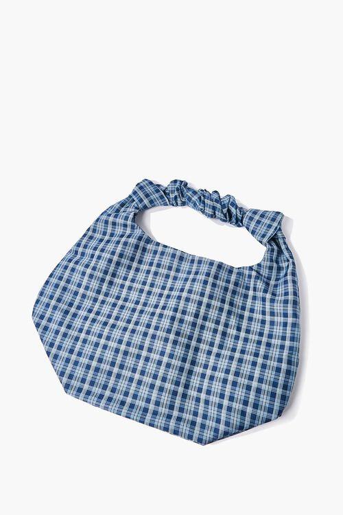 Plaid Twisted Tote Bag, image 1