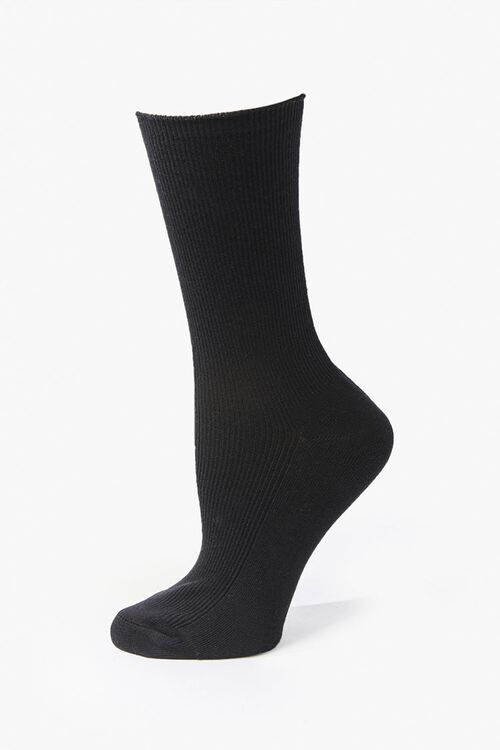 Ribbed Crew Socks, image 1
