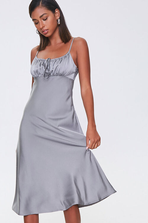 Ruched Satin Dress, image 1