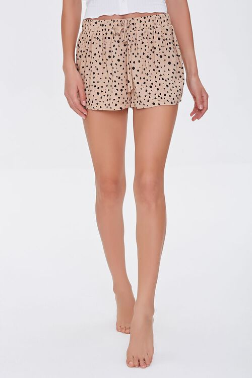 Spotted Print Lounge Shorts, image 2