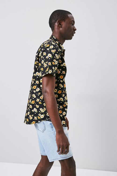 Fitted Daisy Print Shirt, image 2