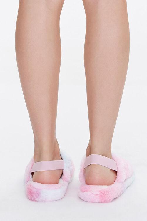Faux Fur Open Toe Slippers, image 3