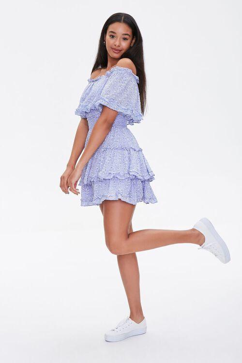 Off-the-Shoulder Floral Print Dress, image 4