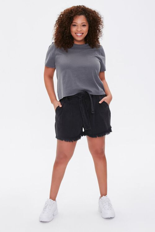 Plus Size Mineral Wash Tee, image 4