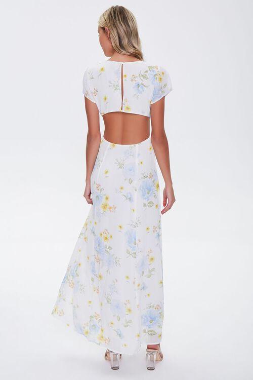 Floral Print Cutout Maxi Dress, image 3