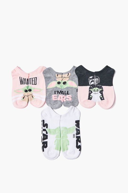 Baby Yoda Graphic Ankle Socks - 5 Pack, image 1