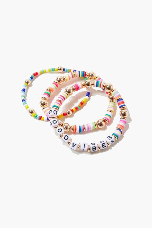 Good Vibes Beaded Bracelet Set, image 1