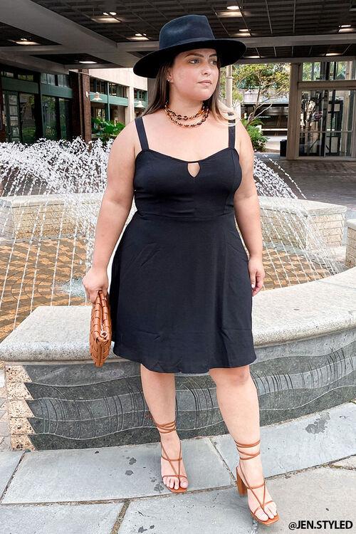 Plus Size Cutout Mini Dress, image 1