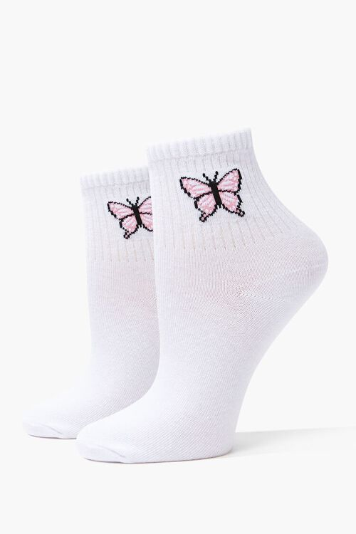 Butterfly Crew Socks, image 1