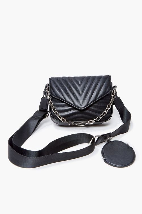 Quilted Crossbody Bag, image 1
