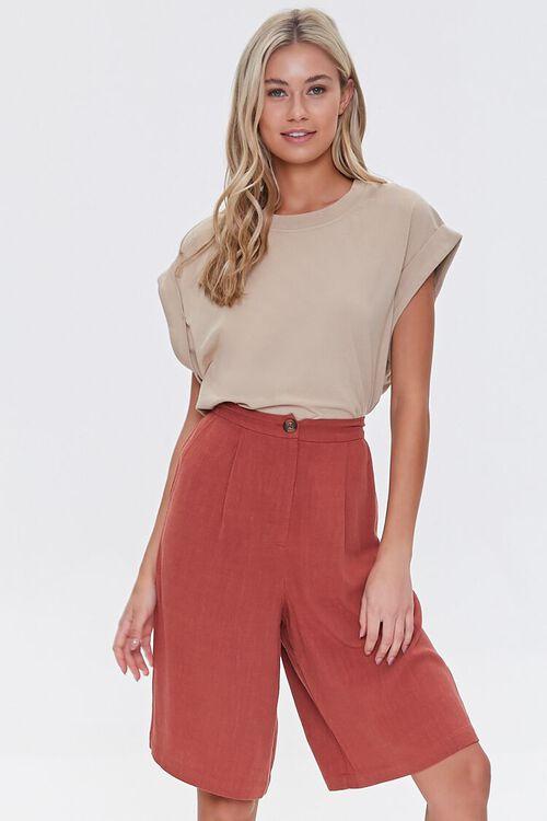 Linen-Blend Bermuda Shorts, image 1