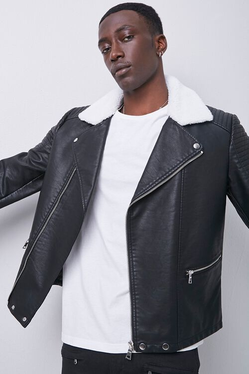Faux Leather Moto Jacket, image 2