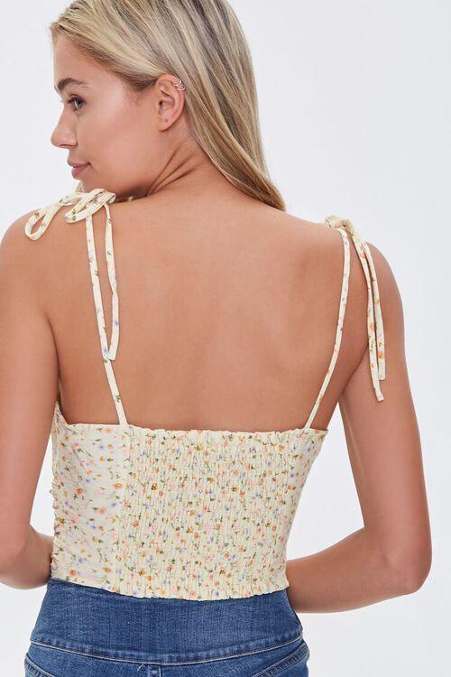 Floral Tie-Strap Cropped Cami, image 3