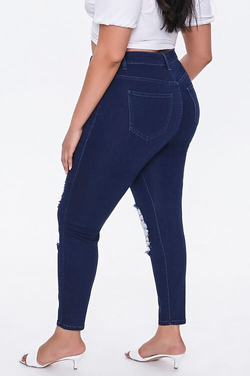 Plus Size Distressed Skinny Jeans, image 3