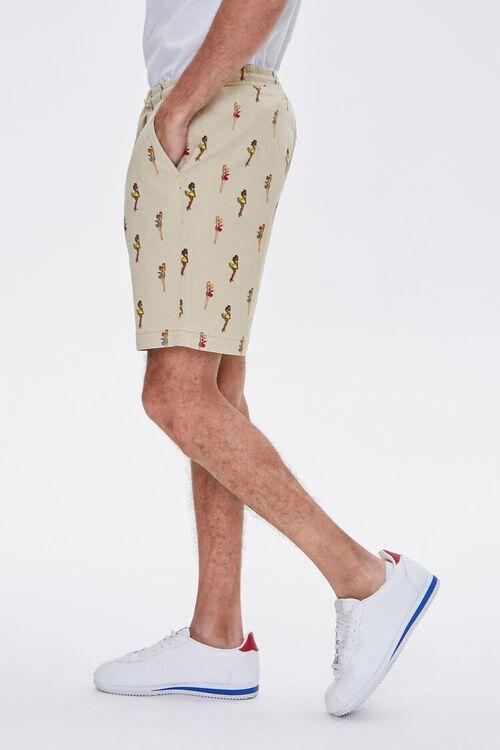 Woman Print Drawstring Shorts, image 3