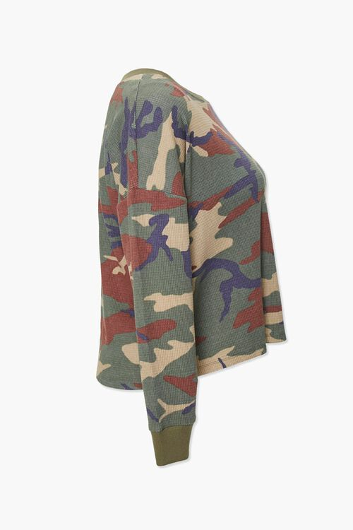 Plus Size Camo Thermal Top, image 2