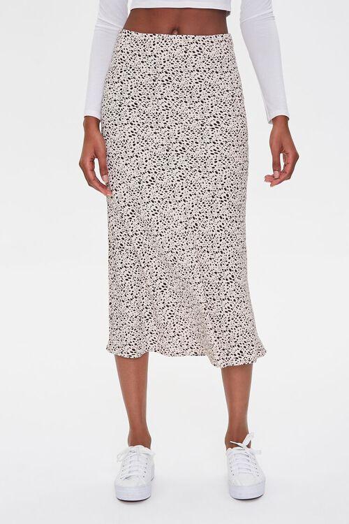 Spotted Print Midi Skirt, image 2