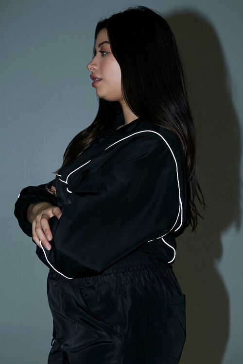 Plus Size Piped-Trim Anorak, image 2