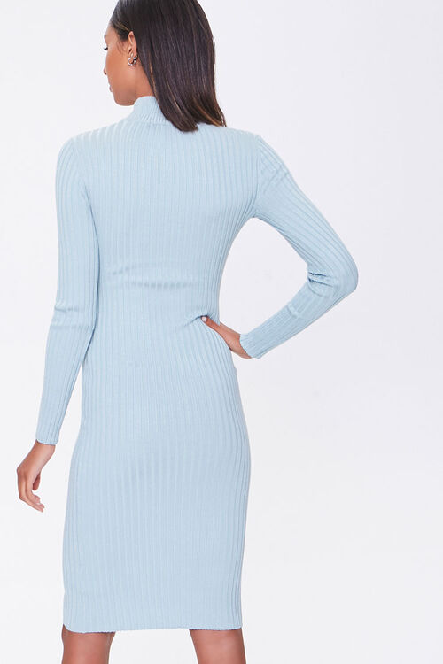 Ribbed Mock Neck Sweater Dress, image 3