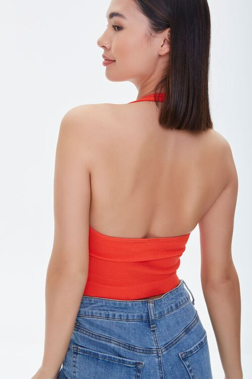 Seamless Cropped Halter Top, image 4