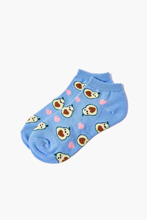 Avocado Print Ankle Socks, image 2