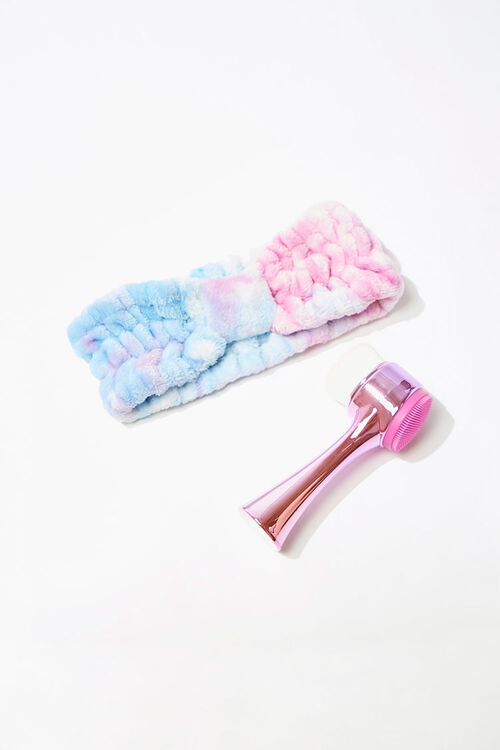 Facial Cleansing Brush & Headwrap Set, image 1