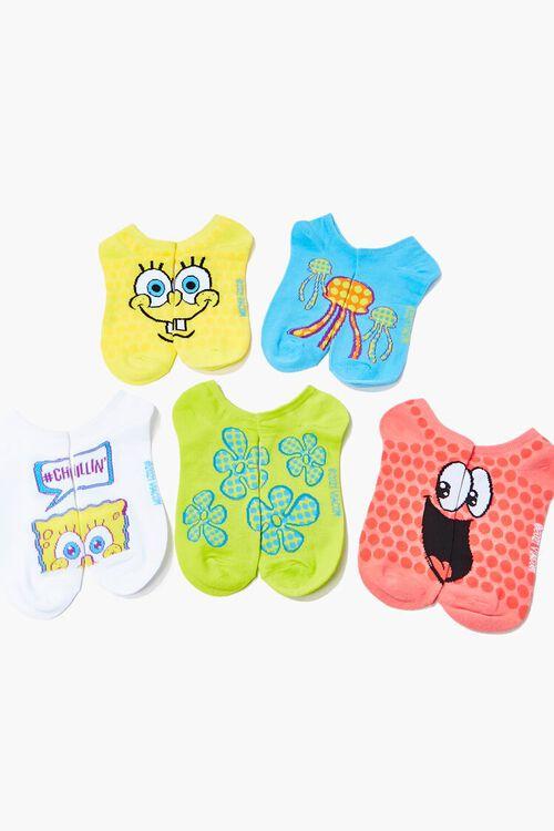 SpongeBob SquarePants Ankle Socks Set - 5 Pack, image 2
