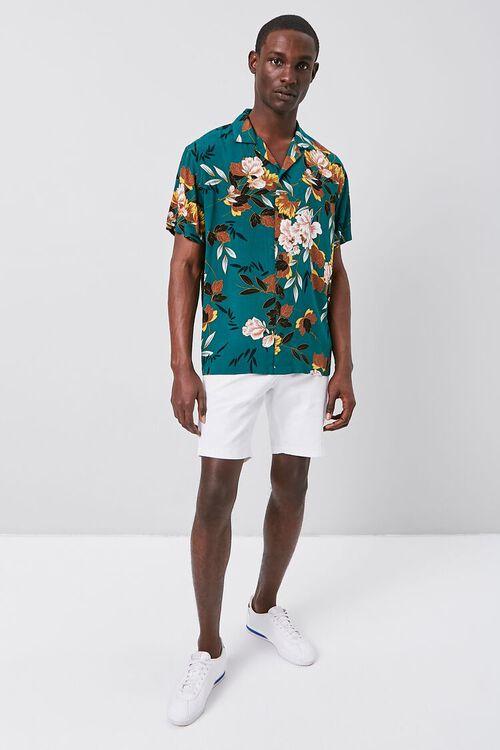 TEAL/MULTI Floral Print Cuban Shirt, image 4