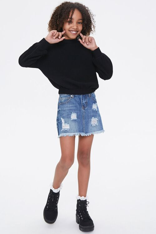 Girls Ribbed Turtleneck Top (Kids), image 4